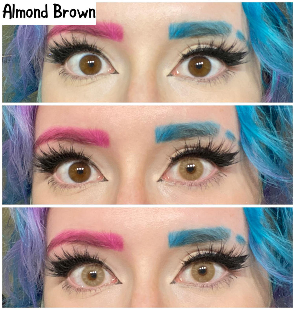 [US Warehouse] Almond Brown Yearly Colored Contacts