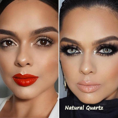 Natural Quartzo Yearly Colored Contacts