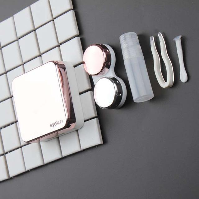 Metal Color Mirror Surface Contact Lenses Case - StunningLens