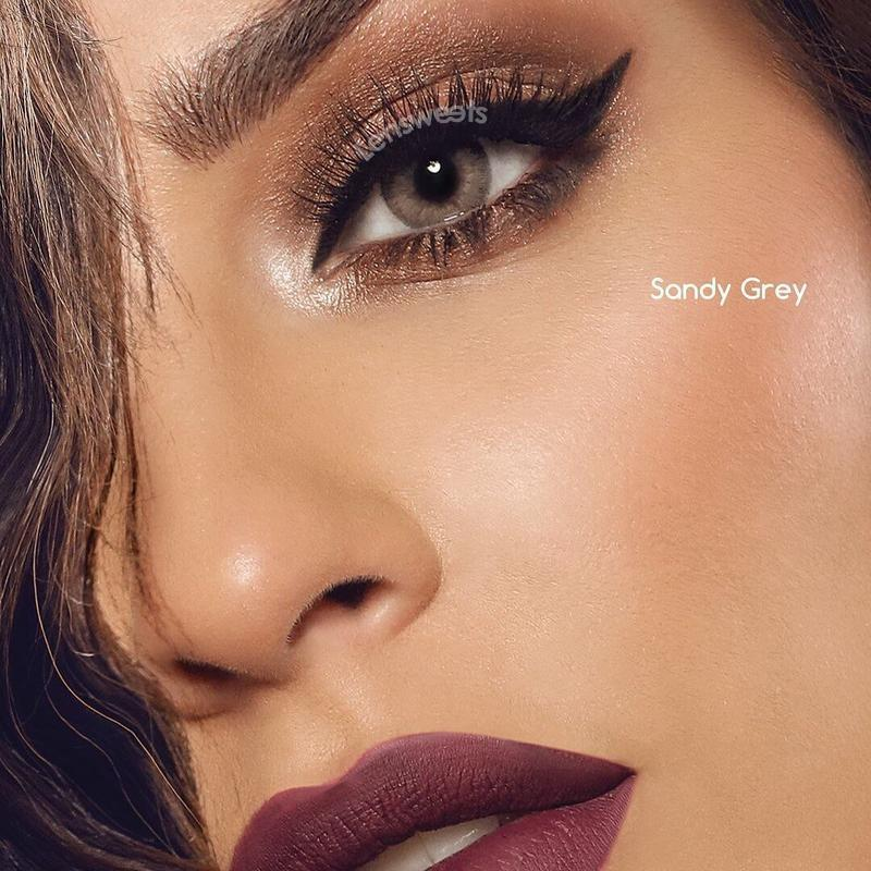 [US Warehouse] Fantasy Sandy Grey Yearly Colored Contacts
