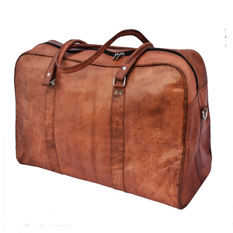 skinnbag weekend bag skinn veske vintage