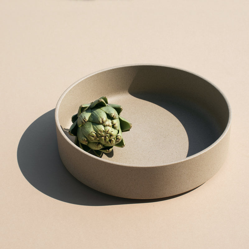 "8.6"" Ceramic Serving Bowl in Natural"