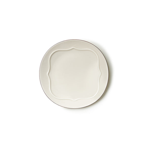 "9.2"" Antique Tile Plate in White"
