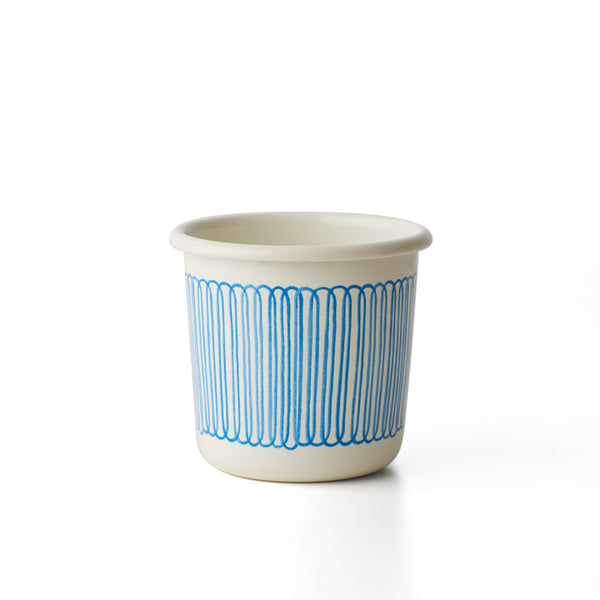 Hand-Painting Enamel Cup in Pedal Strip