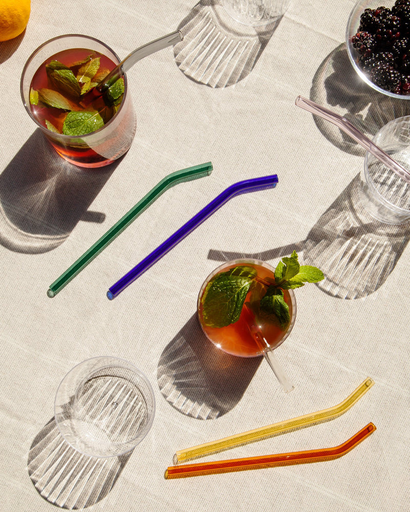 Glass Straw Set in Warm