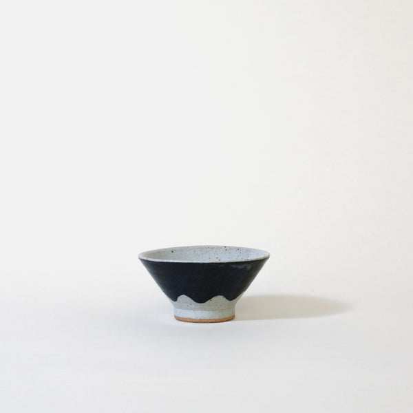 Ceramic Mt. Fuji Japanese Rice Bowl In Blue