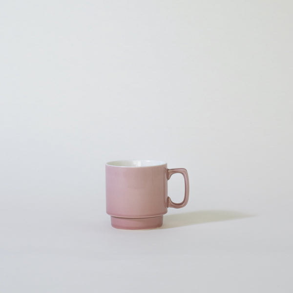 Ceramic Stack Mug in Pink