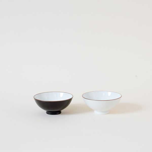 Japanese Rice Bowl in Dark Brown