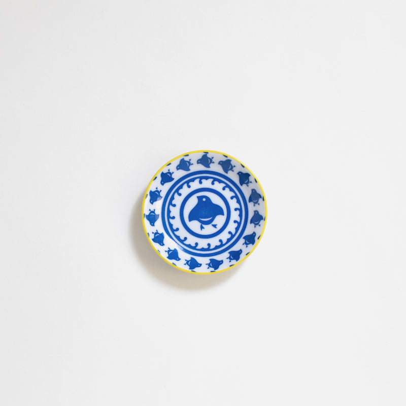 Ceramic Sauce plate in Houndstooth Pattern