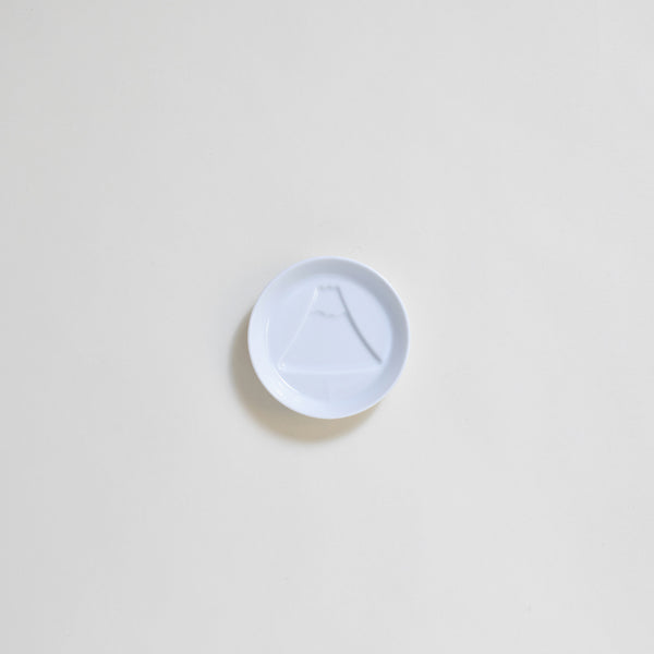 Ceramic Mt. Fuji Soy Sauce Plate in White