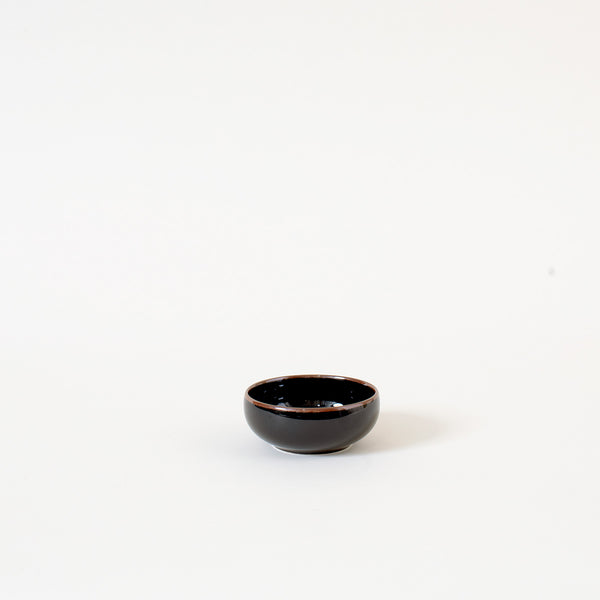 Japanese Mini Dish Bowl in Dark Brown