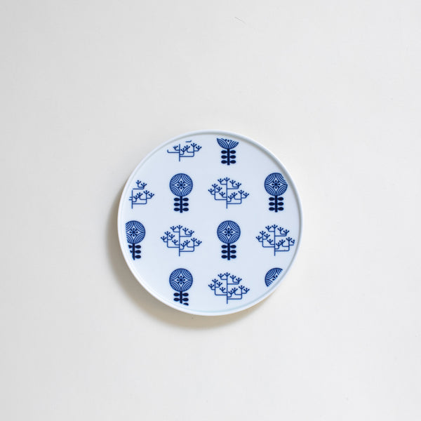 Ceramic Plate in Garden Pattern