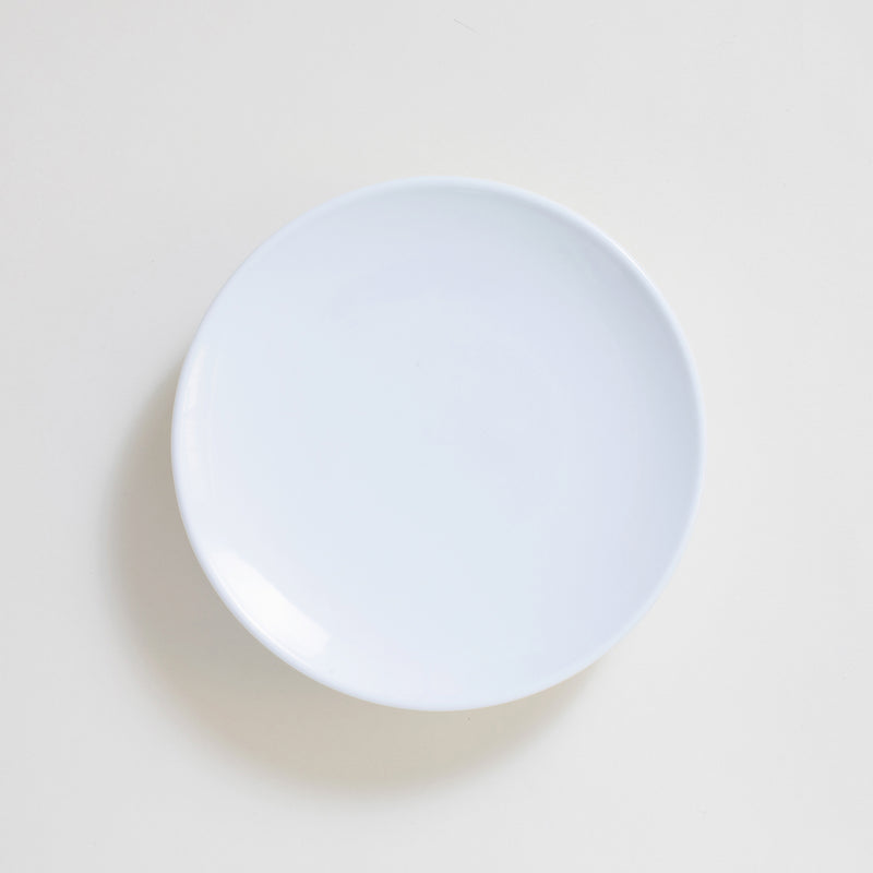 White Porcelain High Ground Plate