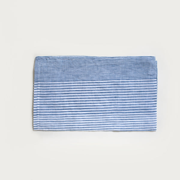 Linen Dish Towel in Gray Stripe