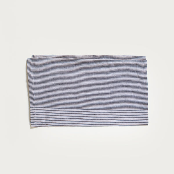 Linen Dish Towel in Black Stripe