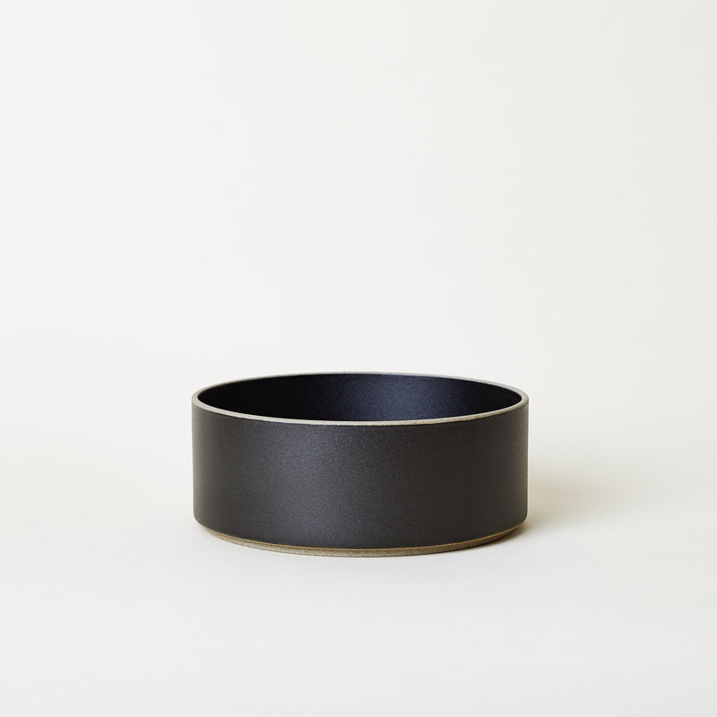"7.3"" Ceramic Tall Bowl in Black"