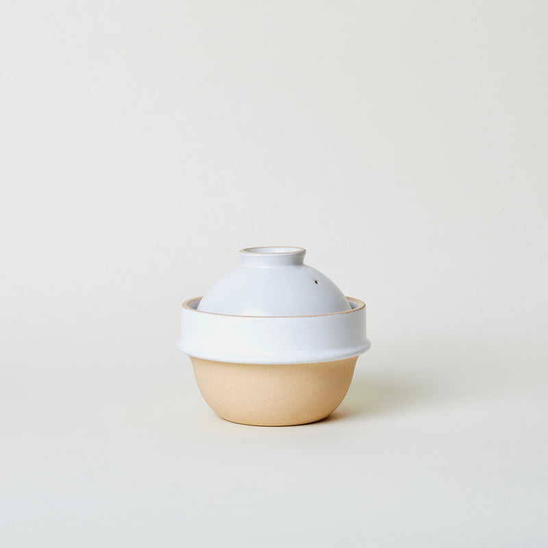 Ceramic Rice Cooker in White
