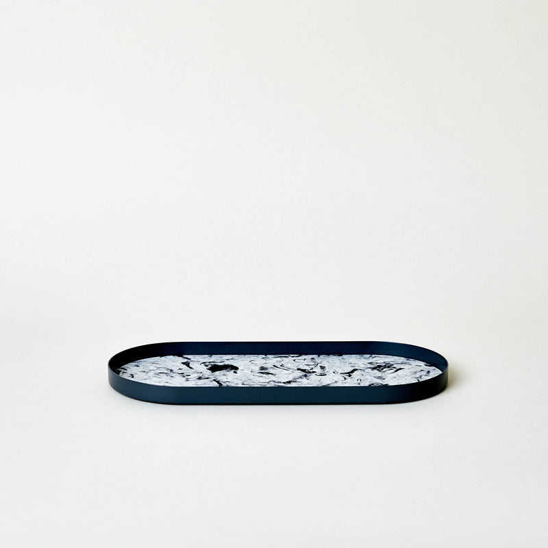 "10.6"" Cloudy Black Fibrewood Long Tray"