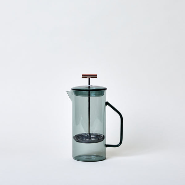 Glass French Press in Gray