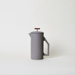 Ceramic French Press in Matte Gray
