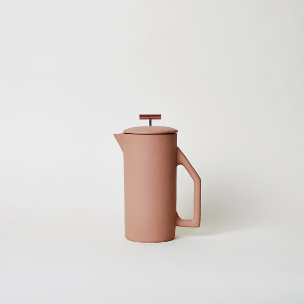 Ceramic French Press in Matte Sand