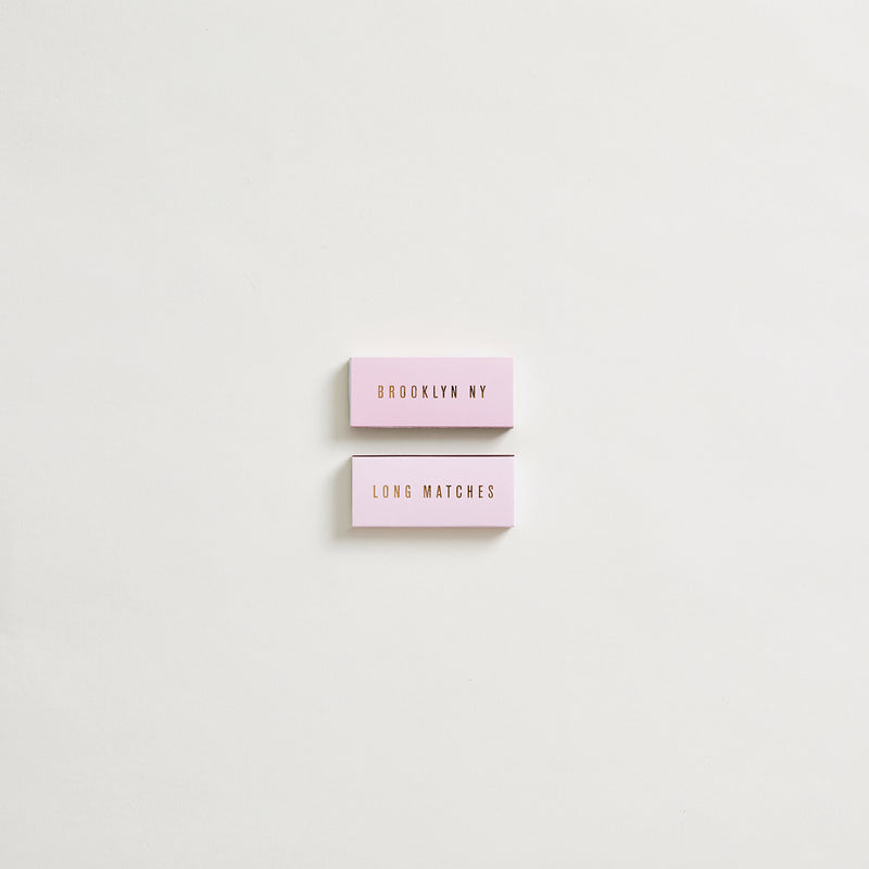 Pink + Gold Brooklyn Long Safety Matches