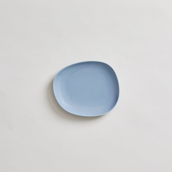 "7"" Hakusan Toki Ceramic Plate in Blue"