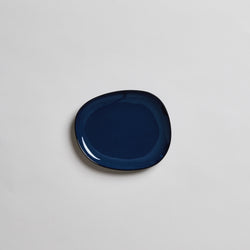 "7"" Japanese Ceramic Plate in Navy"