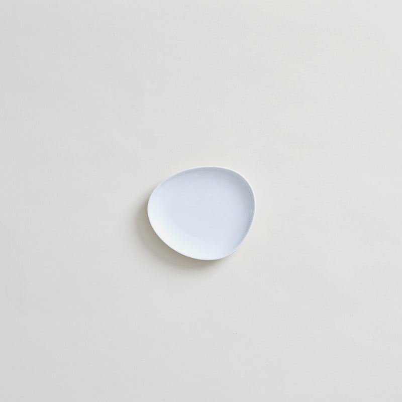 "4.7"" Japanese Ceramic Plate in White"
