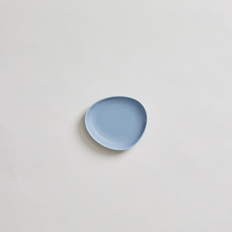 "4.7"" Japanese Ceramic Plate in Blue"