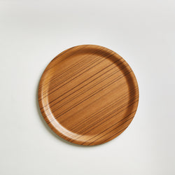 Ayous Wood Round Serving Tray