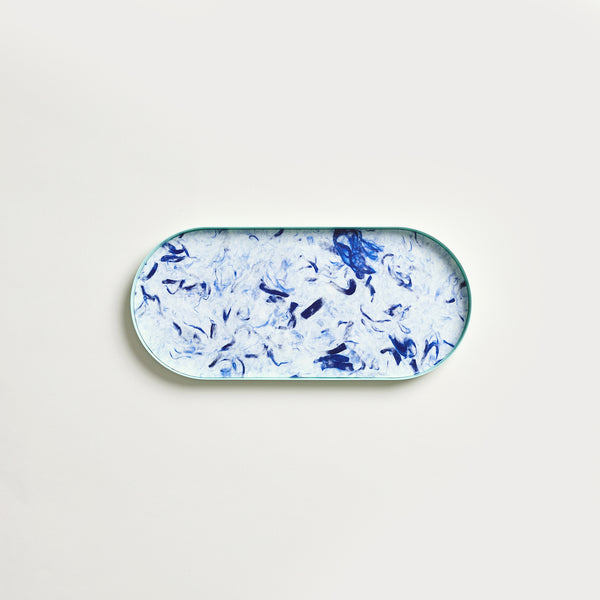 "10.6"" Cloudy Blue Fibrewood Long Tray"