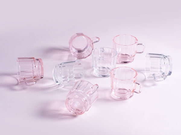 W Glass in Pink