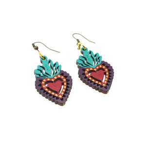 Sacred Heart Earrings by Ethnika