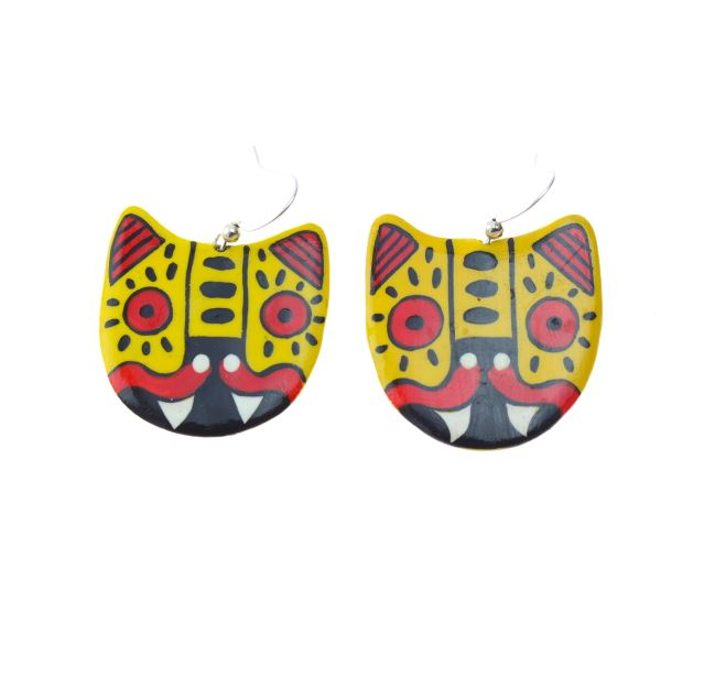 Jaguar Earrings by Yuka Yolo