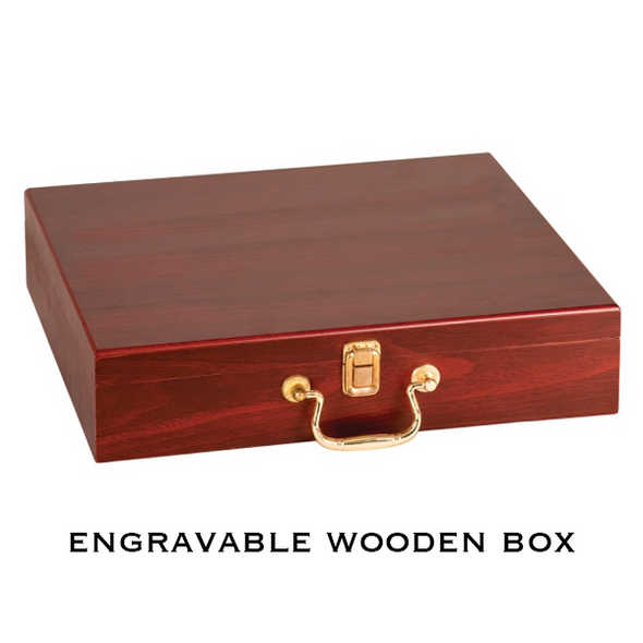 Laserable Rosewood Finish Compact Golf Gift Set
