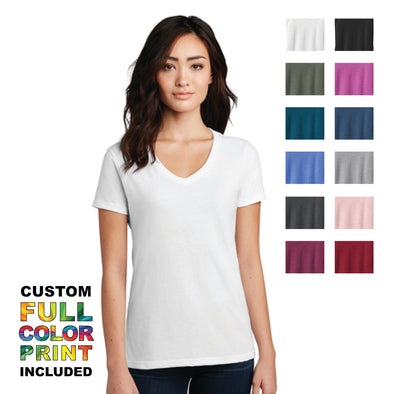 CUSTOMIZABLE LADIES V-NECK TEE
