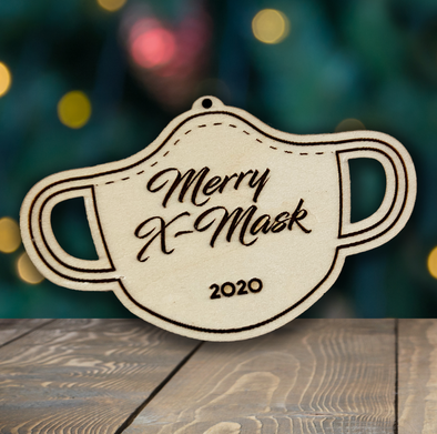 2020 Merry X-Mask - wooden ornament