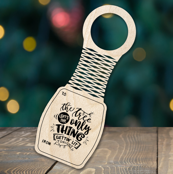 Getting Lit - wine bottle tag