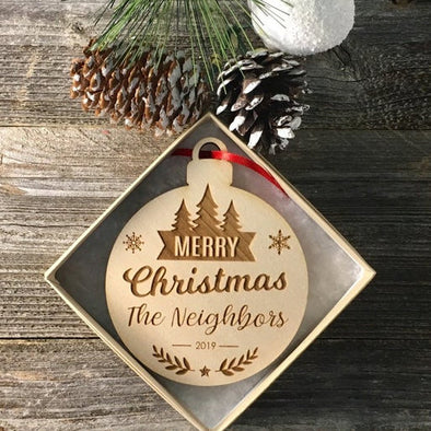 Merry Christmas Neighbor Ornament