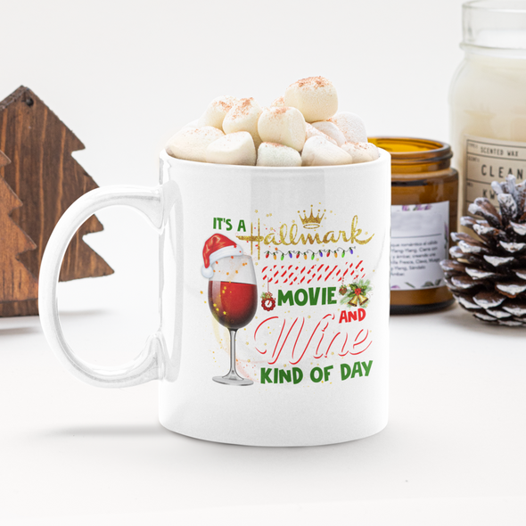 Hallmark Movie Watching Kind of Day 11 oz coffee mug