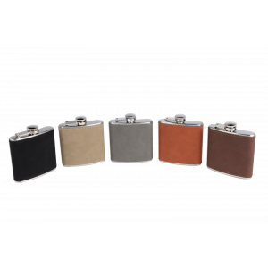 6OZ HIP FLASK - VEGAN LEATHER