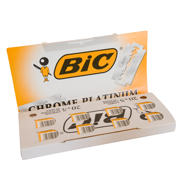 BIC Chrome Platinum Blades 100 pack