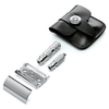 Merkur Travel Razor with Leather Case