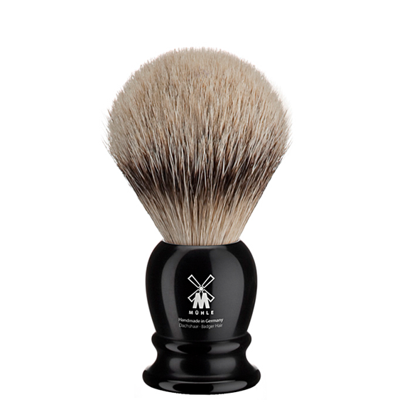 Muhle 091K256 Black Resin Silvertip Shaving Brush