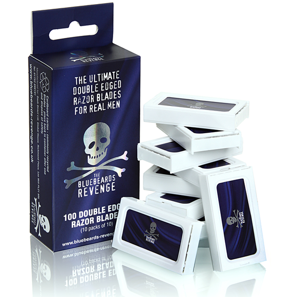 Bluebeards Revenge Double Edged Razor Blades 100 pack