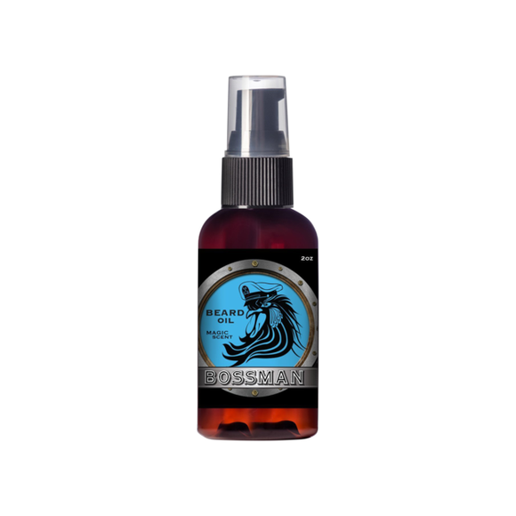 Bossman Beard Oil Magic Blue