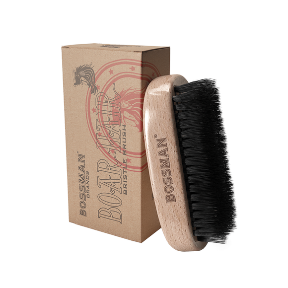 Bossman Hand Held Boar and Nylon Bristle Brush