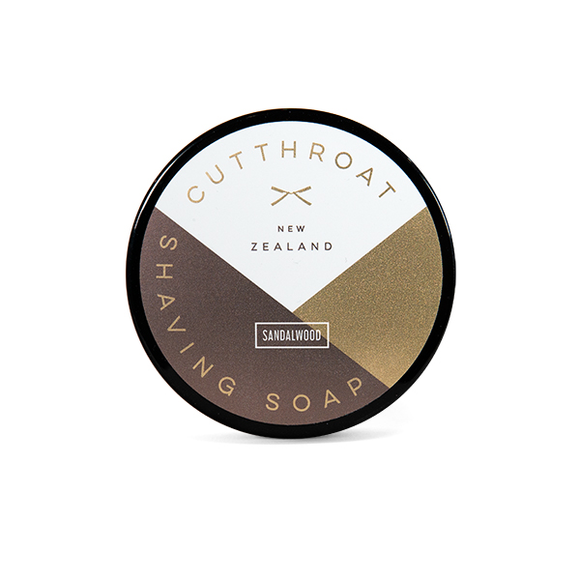 Cutthroat NZ Sandalwood Shaving Soap  150g