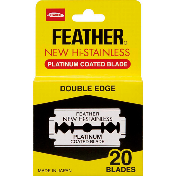 Feather Hi-Stainless Platinum Blades 20 pack